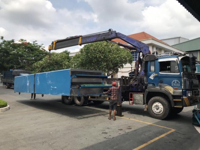 vận chuyển nhà xưởng bằng xe cẩu
